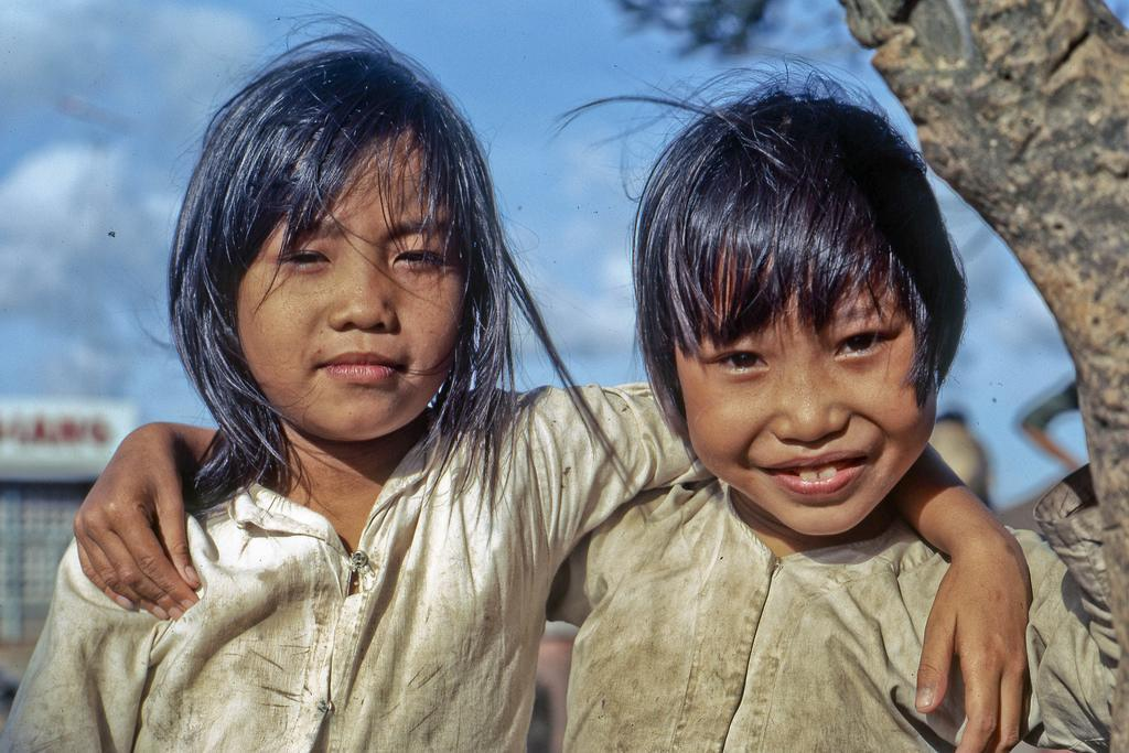 River Front Kids in 1969 At the Mekong River front in southeast My Tho, Dinh Tuong Province, Vietnam.