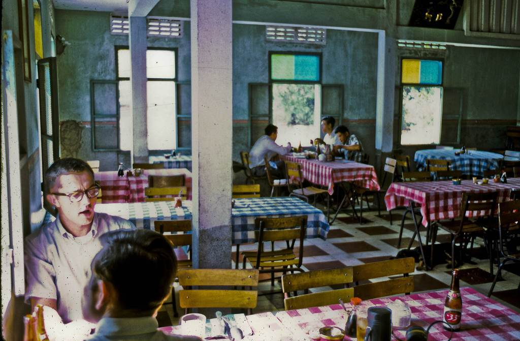 Cuu Long Restaurant in My Tho -- 1969 Captain Kozak, Luetenant Short and I had a nice Chinese lunch here. (Dinh Tuong Province in Vietnam's Mekong Delta)