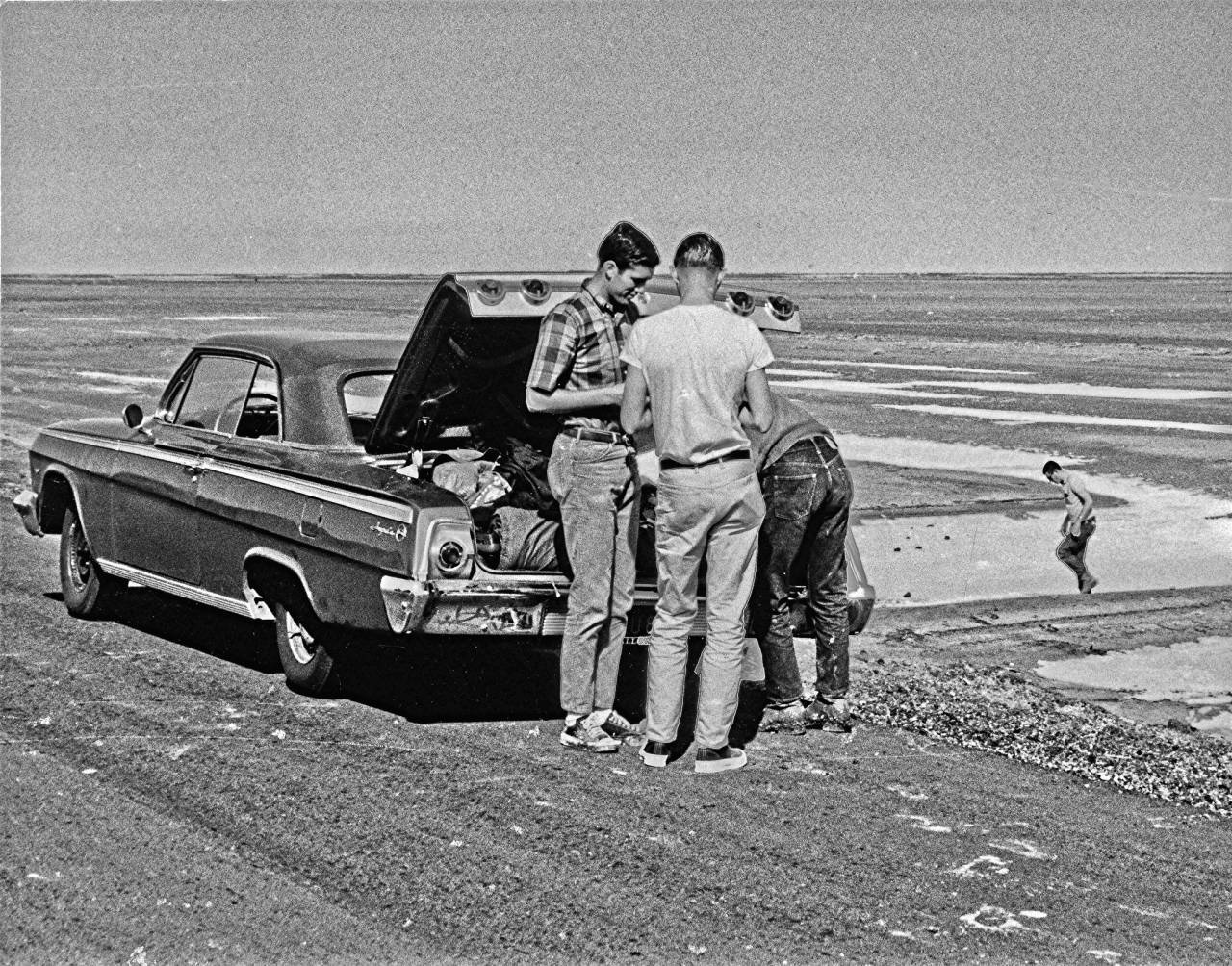 Road Trip to San Felipe, Baja, in 1966 On Spring Break in 1966 and I and 4 college buds took a road trip from Fresno down to San Felipe, Baja, in a 1962 Chevy Imapala. Here we are stopped on the highway out in the Baja desert on the last leg of our journey. Bob the Real Deal PRO 3y Lance - I find this photo very strange - the car is 4 yrs old and not hot rodded at all . I don't think your buddies were into cars like you , if it was yours , it would have a nice stance and cool mag wheels Greg Bishop PRO 3y What a change today. Invaded by bad guys and a city with growing pains and throngs of tourists. Would have been the perfect time to keep exactly as it was (except add digital cameras :). Lance Nix PRO 3y Bob the Real Deal You be right, Bob. They were a conservative bunch. Tom (down to the right), the car's owner, went on to become a CPA. Nick (back to picture) drove a stock 1964 Chevelle convertible (283 2-barrel with 2-speed auto trans) and became manager for one of those mega farms south of Lemoore. Syd (standing left) drove an old MGA which he never washed or waxed and went on to become a big wig with the IRS in San Jose. And Lee (butt view only) never had a car that I remember and I don't know what became of him. Not a gear head in the bunch.