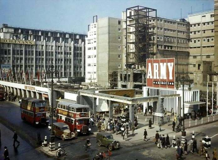 Bombed out John Lewis 1942