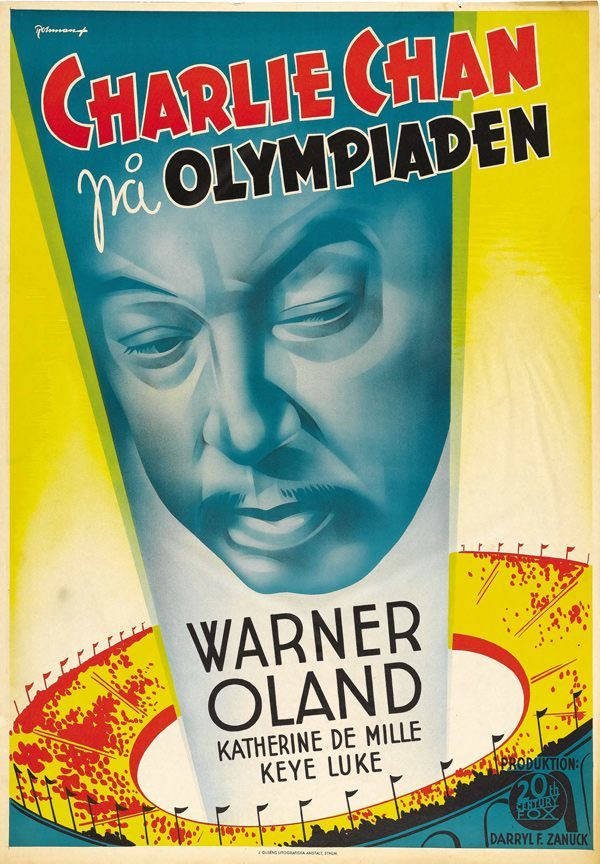 Charlie Chan at the Olympics (20th Century Fox, 1937) artist- Eric Rohman