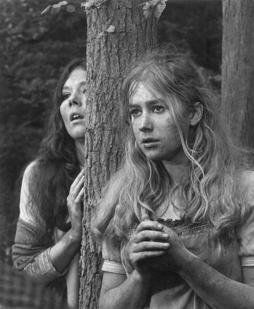 Dame Diana Rigg as Helena and Dame Helen Mirren as Hermia, 1968. Photograph by David Farrell, courtesy of the David Farrell Estate (c) DFP