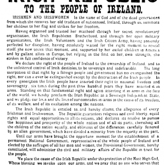 The Easter Rising 1916 Was An Inspiring Blow For Freedom