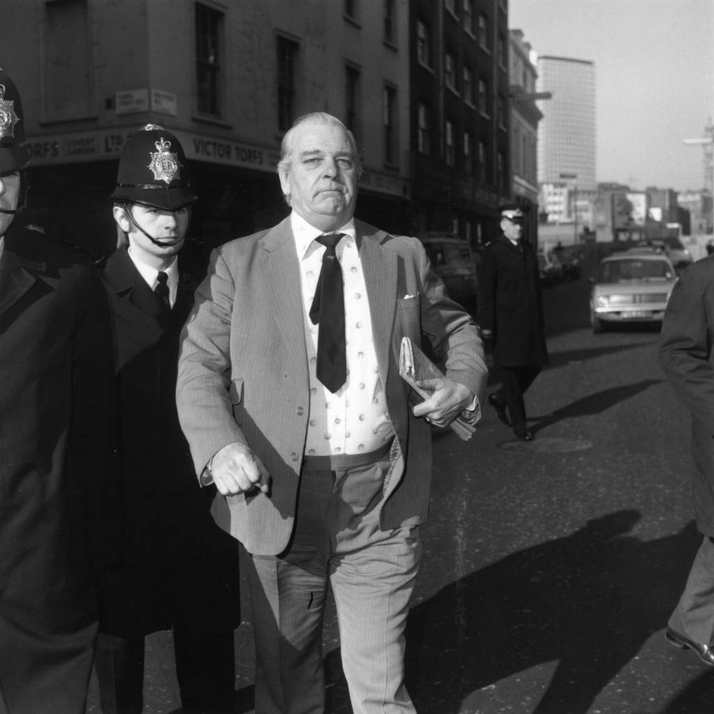 Kenneth Drury, the former head of the Flying Squad, who appeared at Bow Street Magistrates court. (Photo by Central Press/Getty Images)