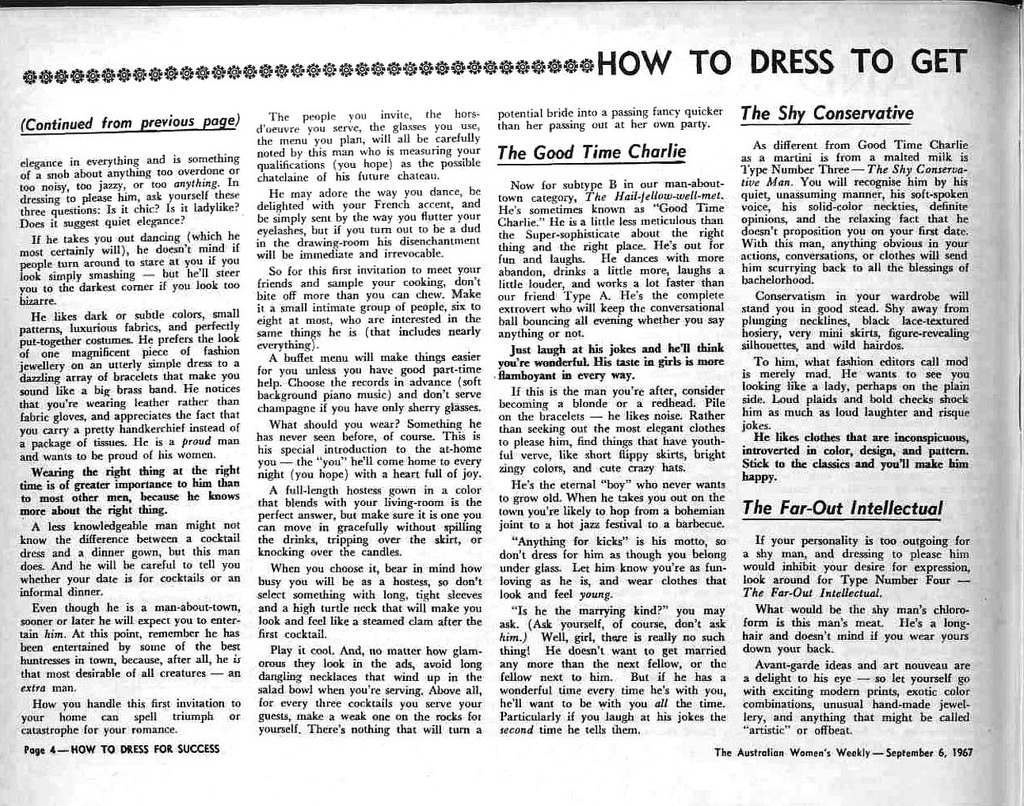 How To Dress For Success 1967 2