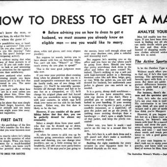 How To Dress For Success And To Get A Man: A 1967 Guide For Useless Women