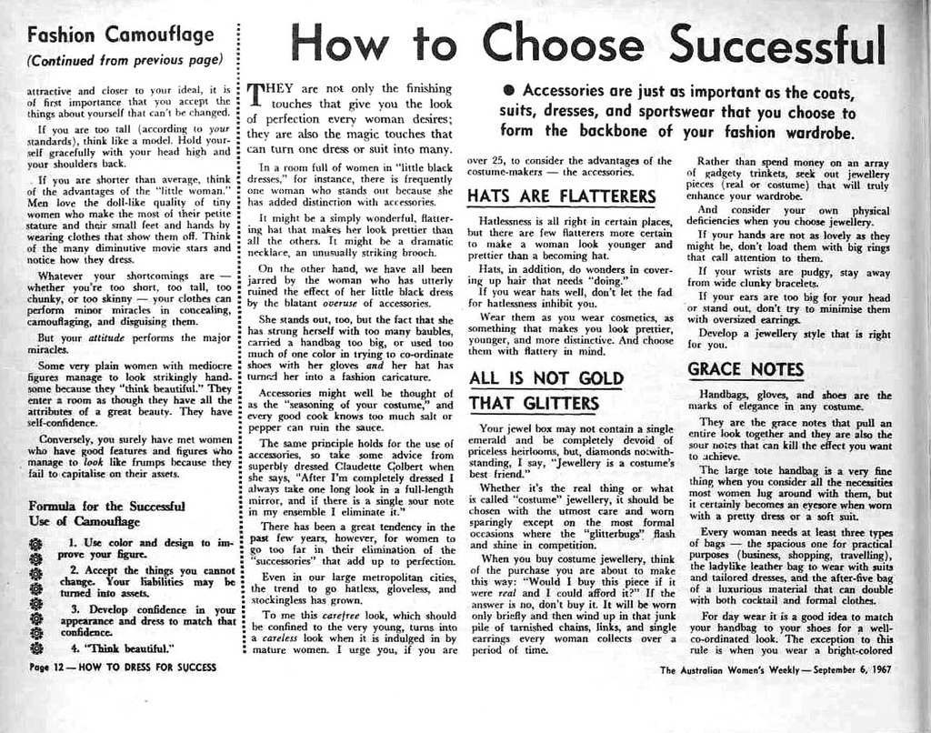 How To Dress For Success 1967 9