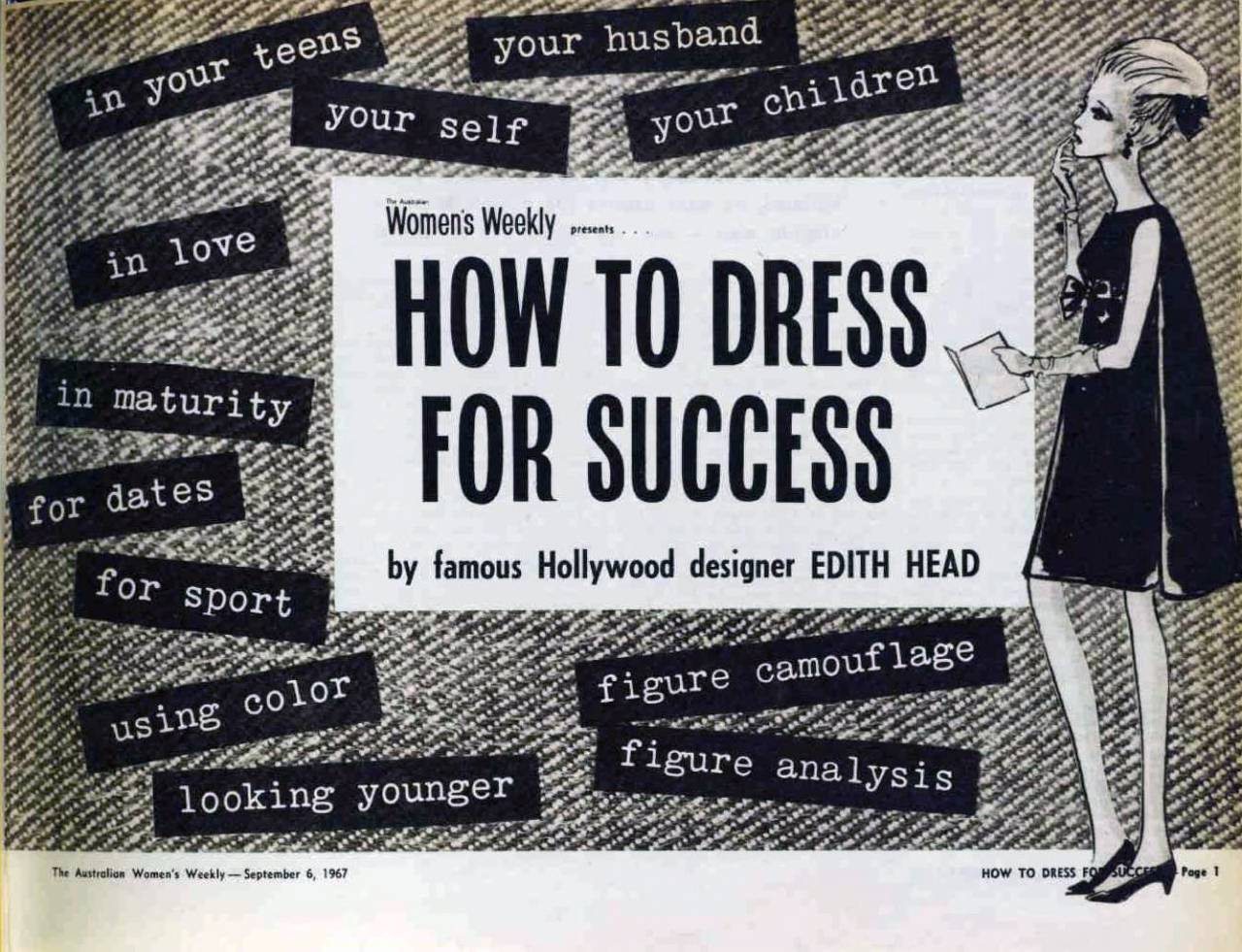 How To Dress For Success 1967