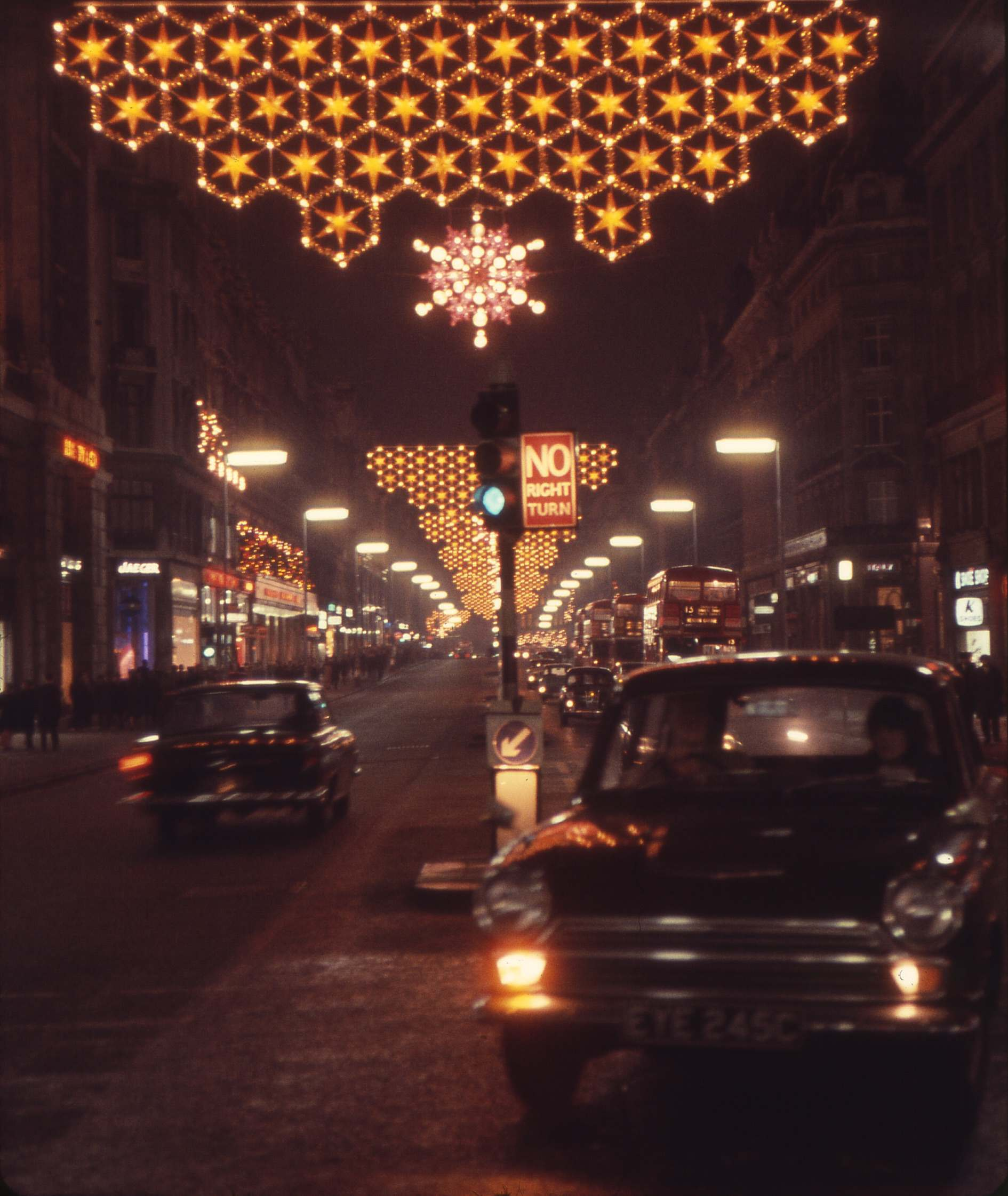 Oxford Street, London, Christmas Eve, 1965