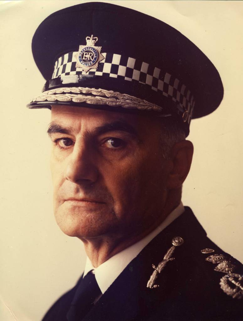 Sir Robert Mark, chief commissioner of the Metropolitan Police in 1974, by Lord Snowdon.