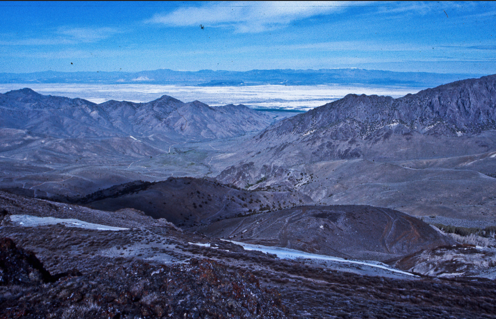 May 1977 High in the desert mountains of northern Nevada southeast of the Black Rock Desert.