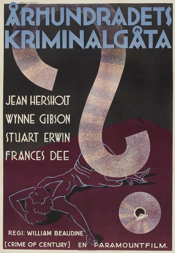 The Crime of the Century (Paramount, 1933) artist- Gösta Åberg