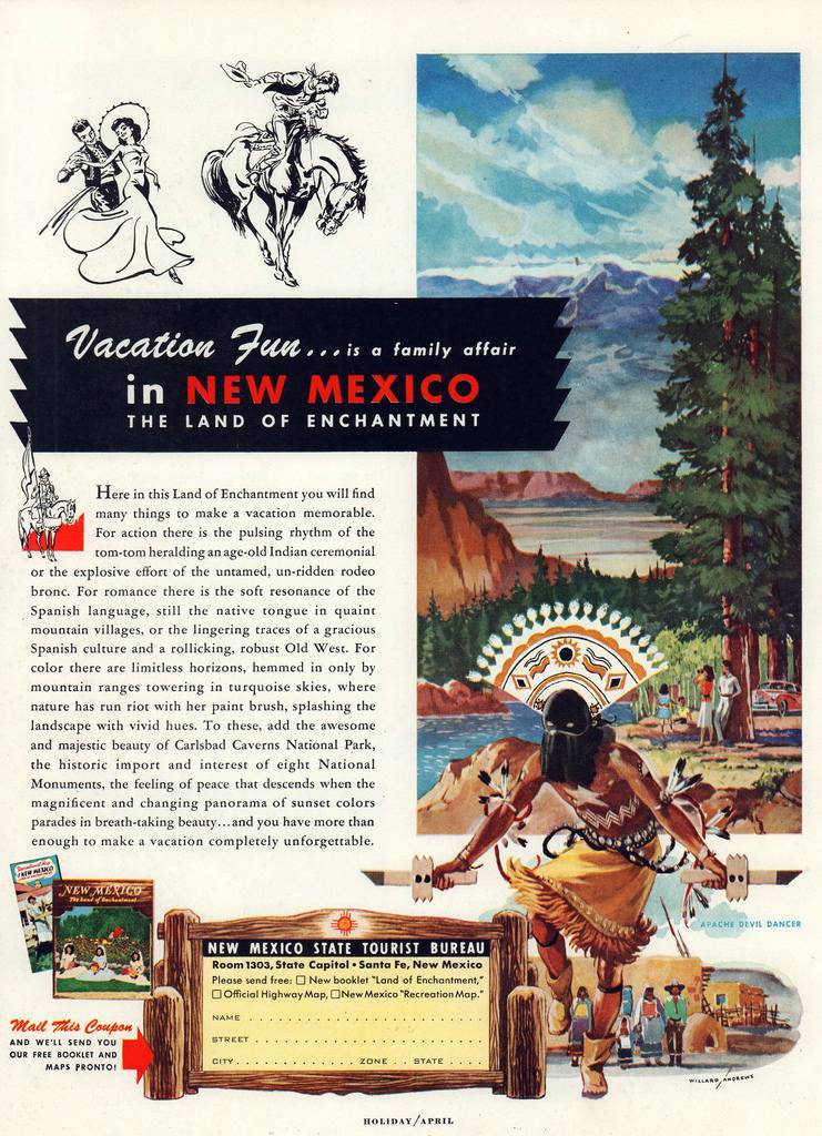 Travel Ads 1950 1