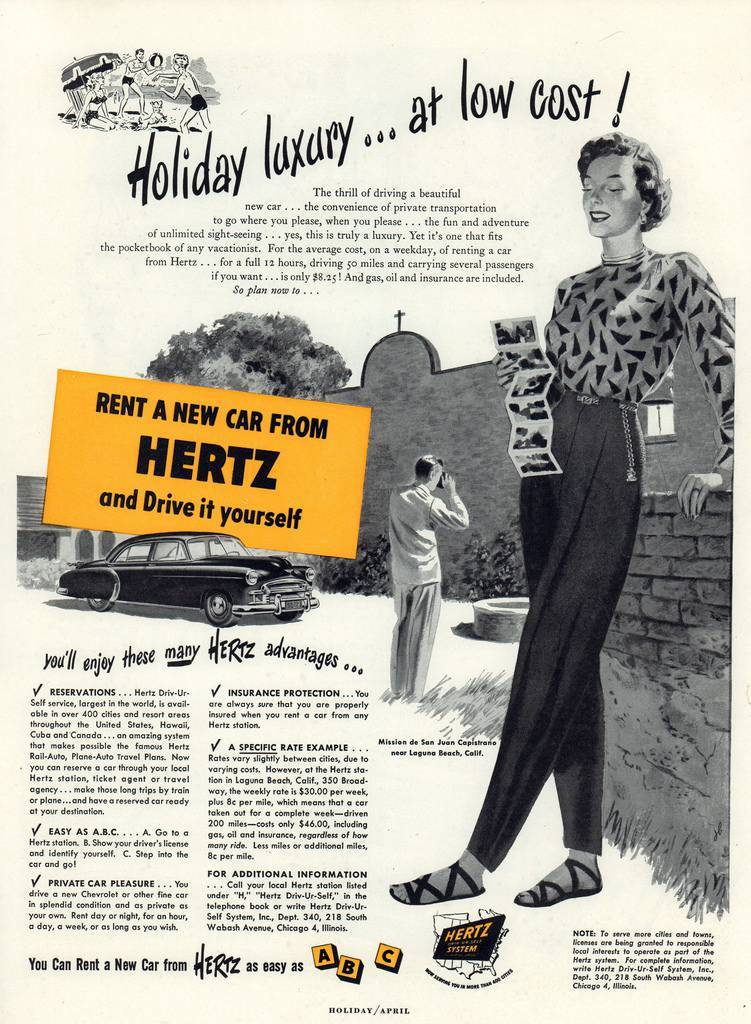 Travel Ads 1950 2