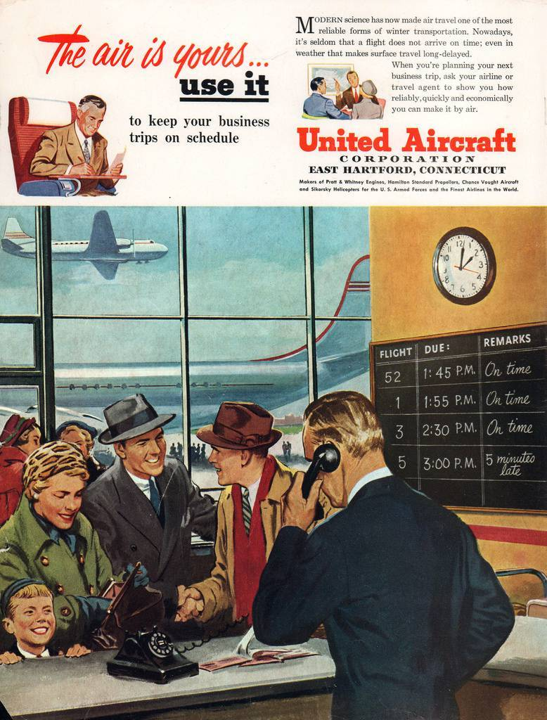 Travel Adverts From An April 1950 Issue Of Holiday