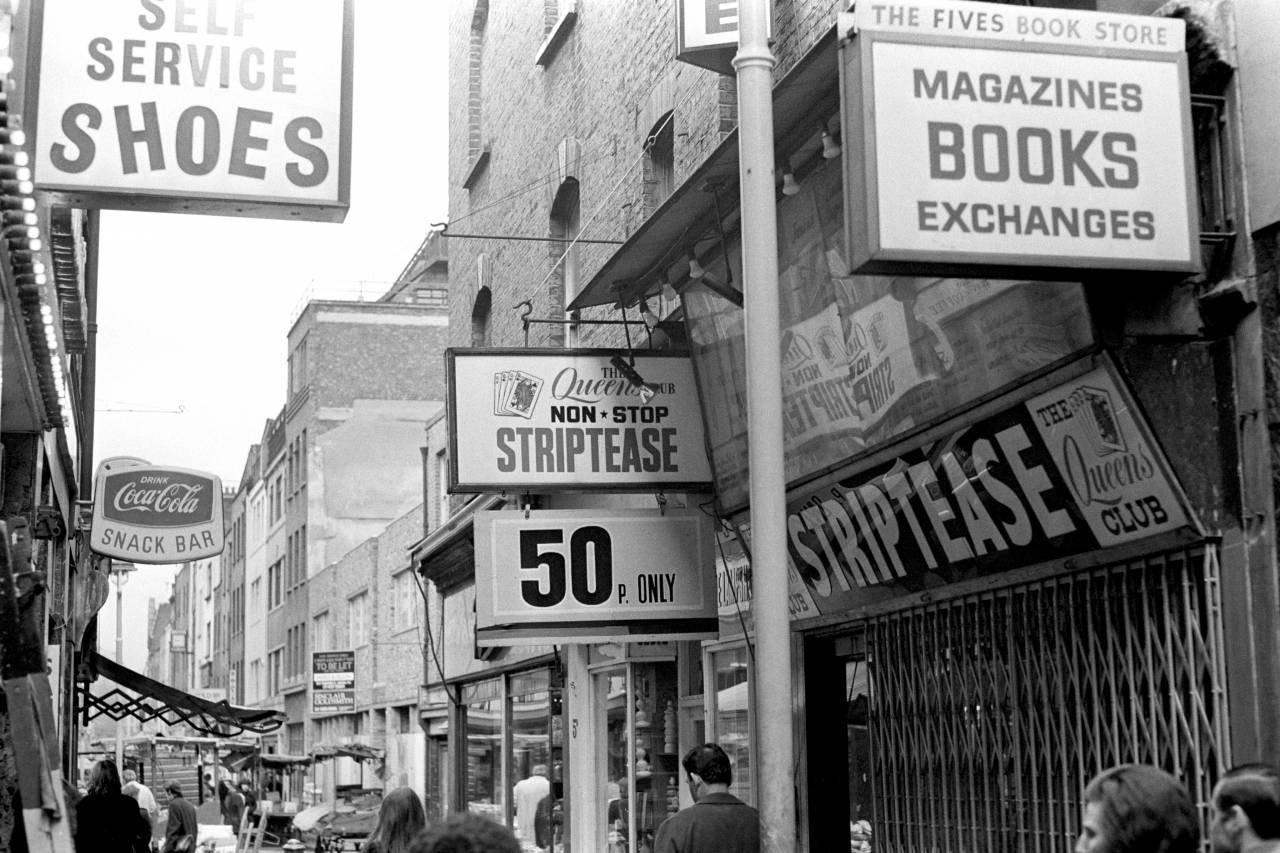 Walker's Court, Soho in 1972
