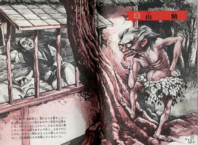 Yamasei (mountain sprite), Illustrated Book of Japanese Monsters, 1972