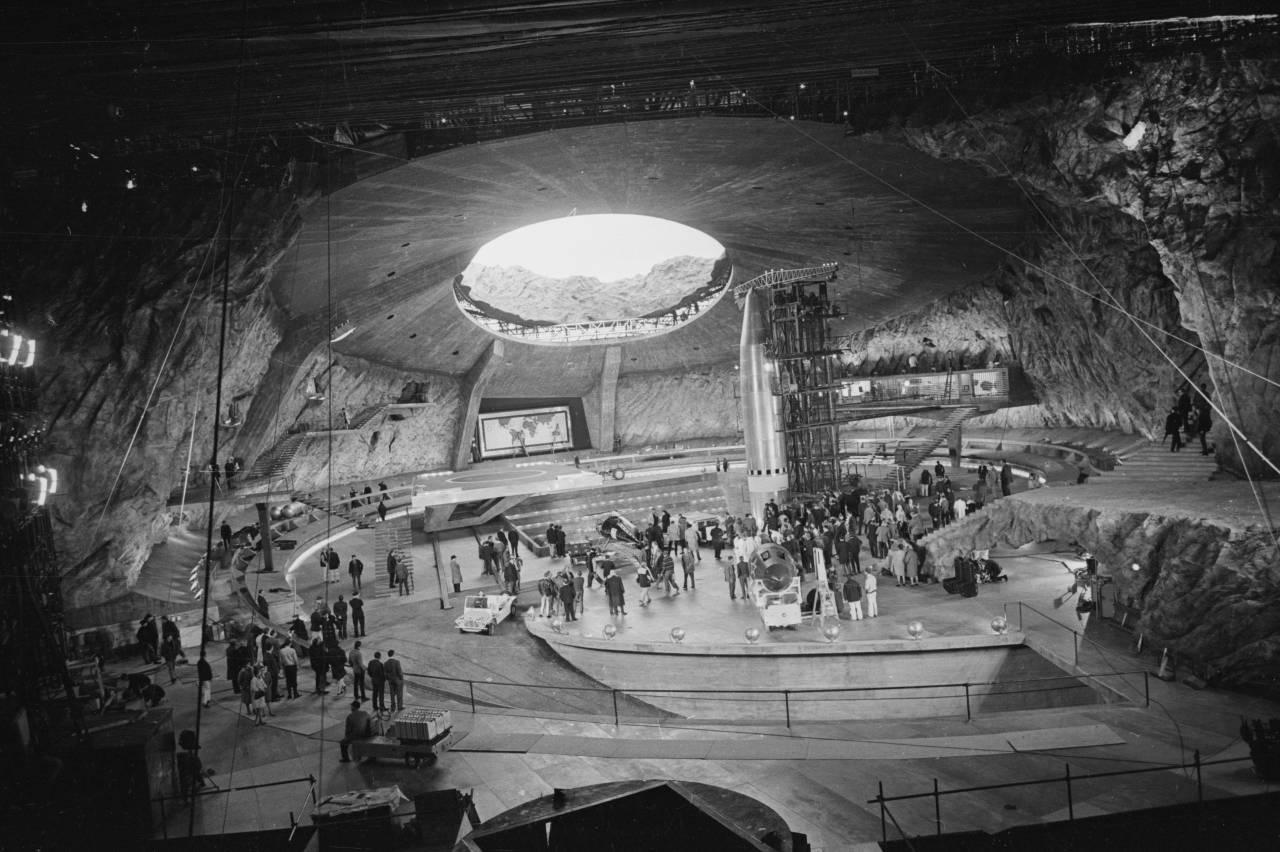 28th October 1966: The massive purpose-built set of the new Bond film 'You Only Live Twice' at Pinewood Studios. (Photo by Larry Ellis/Express/Getty Images)