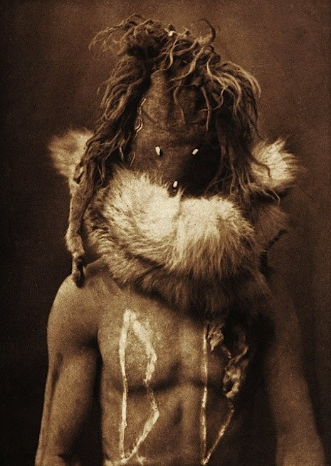 Kwakiutl and Navajo tribes. Edward S. Curtis circa 1914.