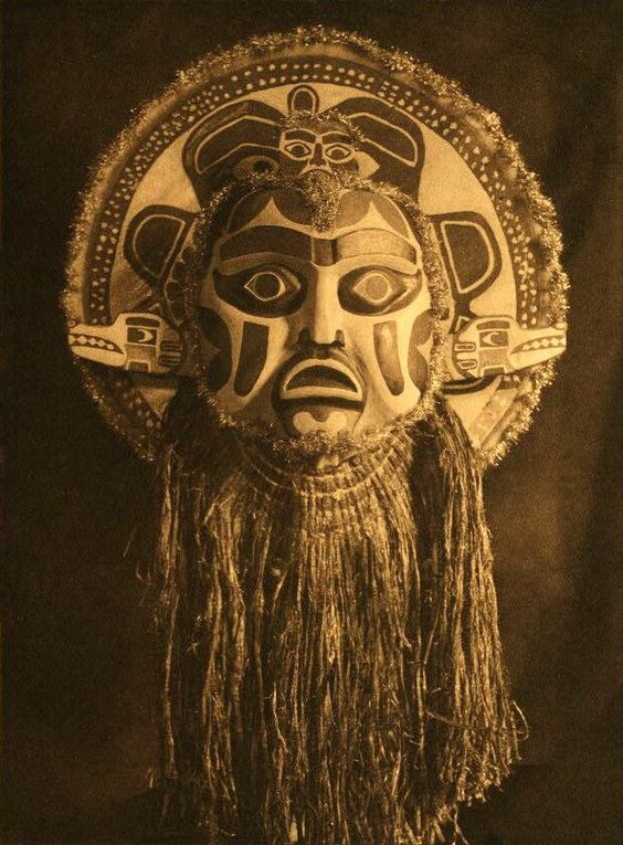 Nootka mask (west coast of Vancouver Island, Canada), by Edward S. Curtis,1915.