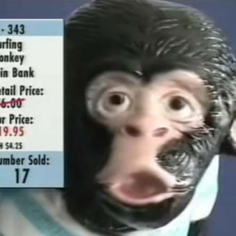 Watch This Hilarious Anti-Drugs PSA For A Surfing Monkey Coin Bank (1999)
