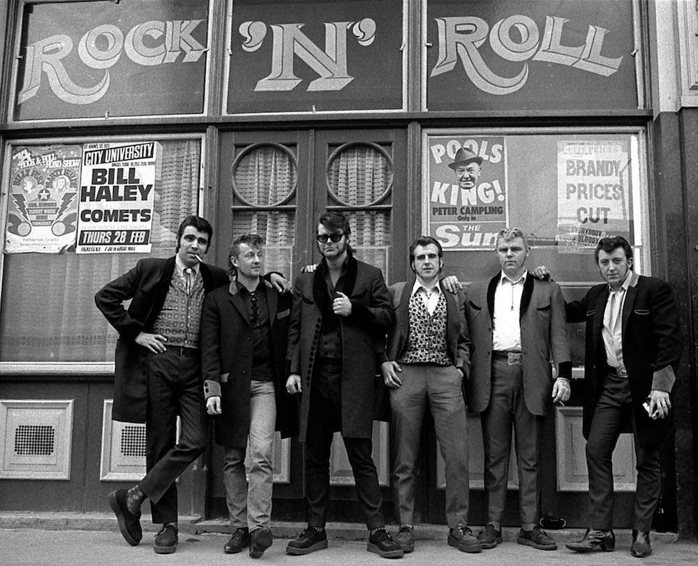 Teddy boys in London, Britain - 1976. Can you name them?