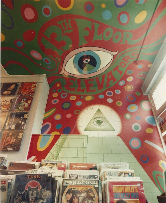 13th Floor Elevators mural inside Zippo Records, Clapham Park, south-west London, mid-80s, courtesy Pete Flanagan