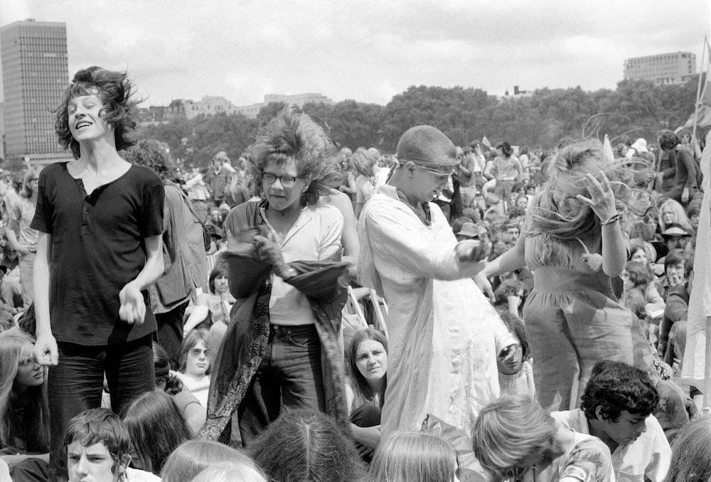 Hyde Park Pop Festival. Some of the crowd danced. July 1970 70-6854-007