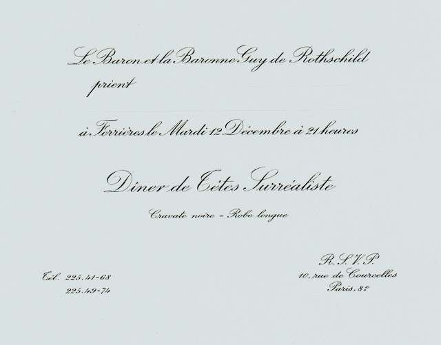 1972 Surrealiste Ball invite