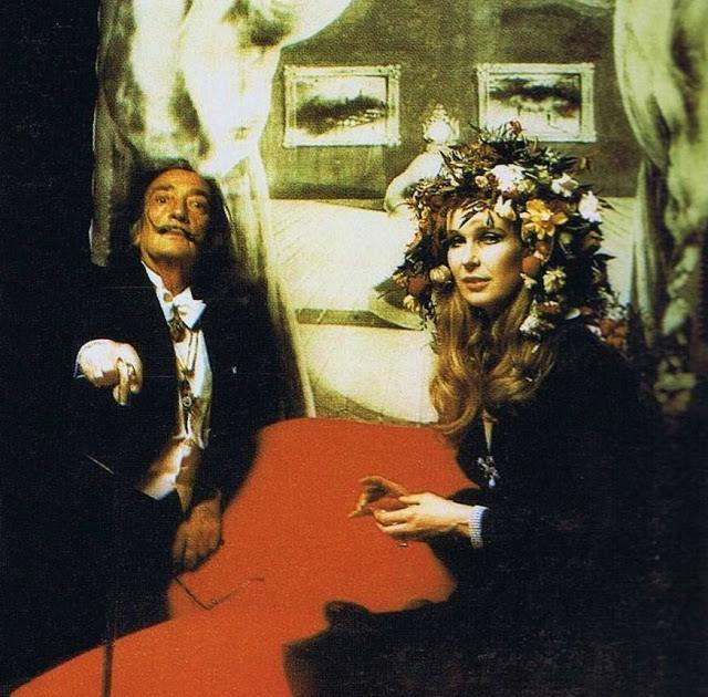 Salvador Dalí and the italian princess Maria Gabriella de Savoia