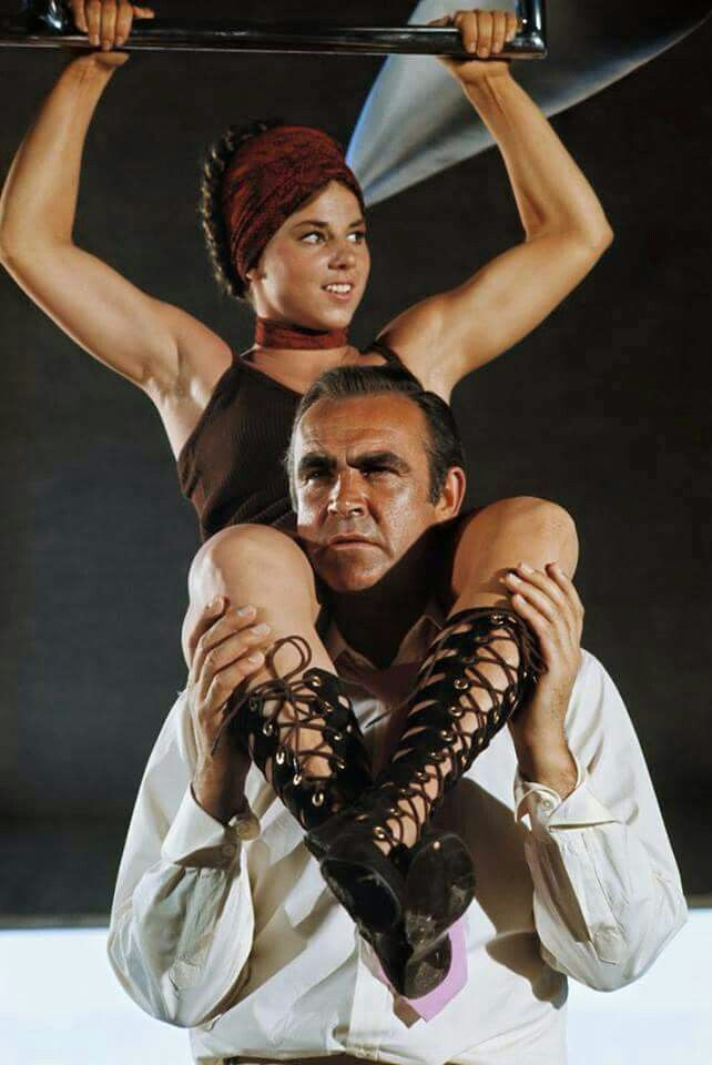 Sean Connery and Lola Larson who played 'Bambi'.