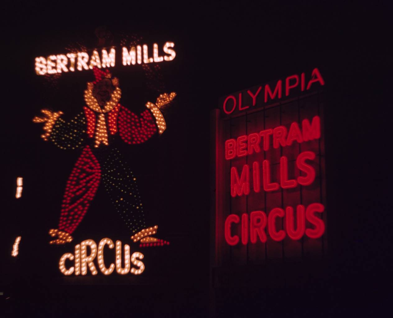 The lights of Bertram Mills Circus at Olympia by Vern Orton, 1955.