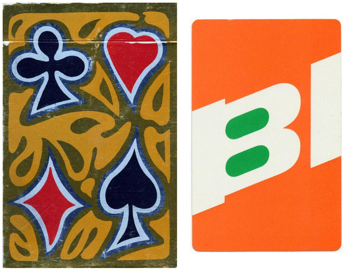 Braniff Airlines playing cards