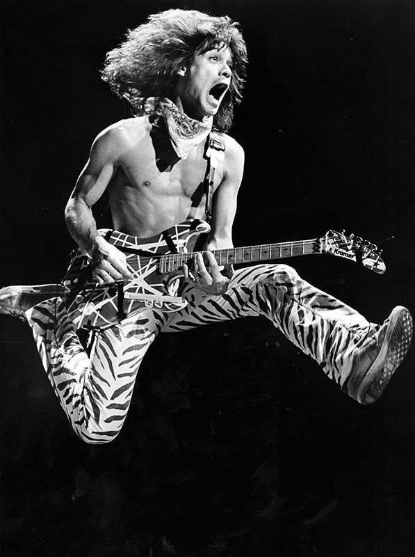 Eddie Van Halen, 1984. Photo: Paul Chinn