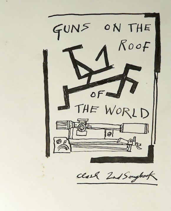 Drawing for songbook, 10 1/4 x 8″. Derek Boshier 1979 courtesy Flowers Gallery