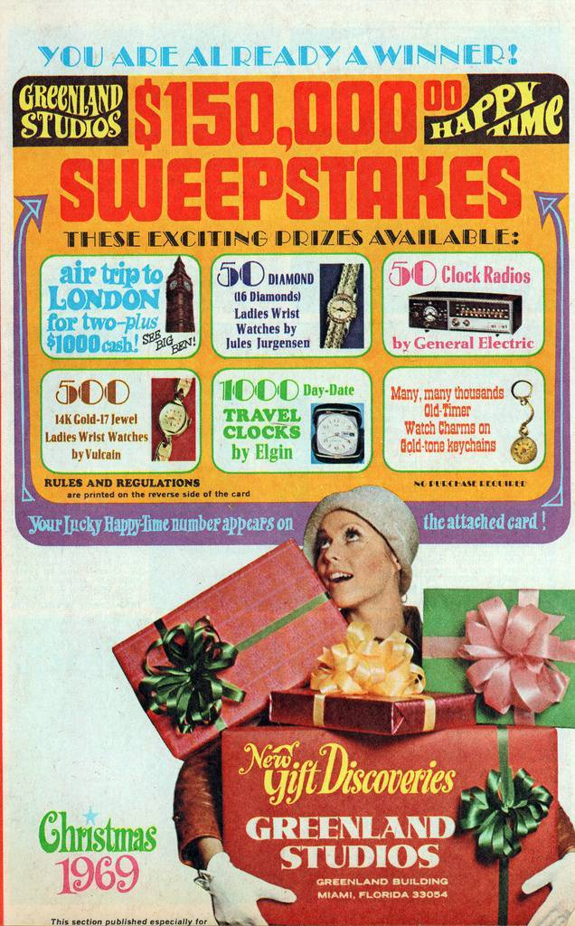 Greenland Studios 1969 vintage retro Christmas catalog