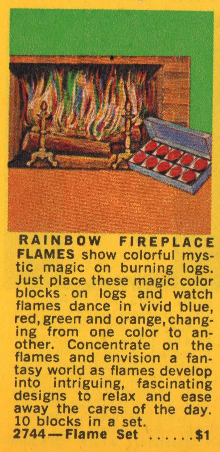 rainbow fireplace