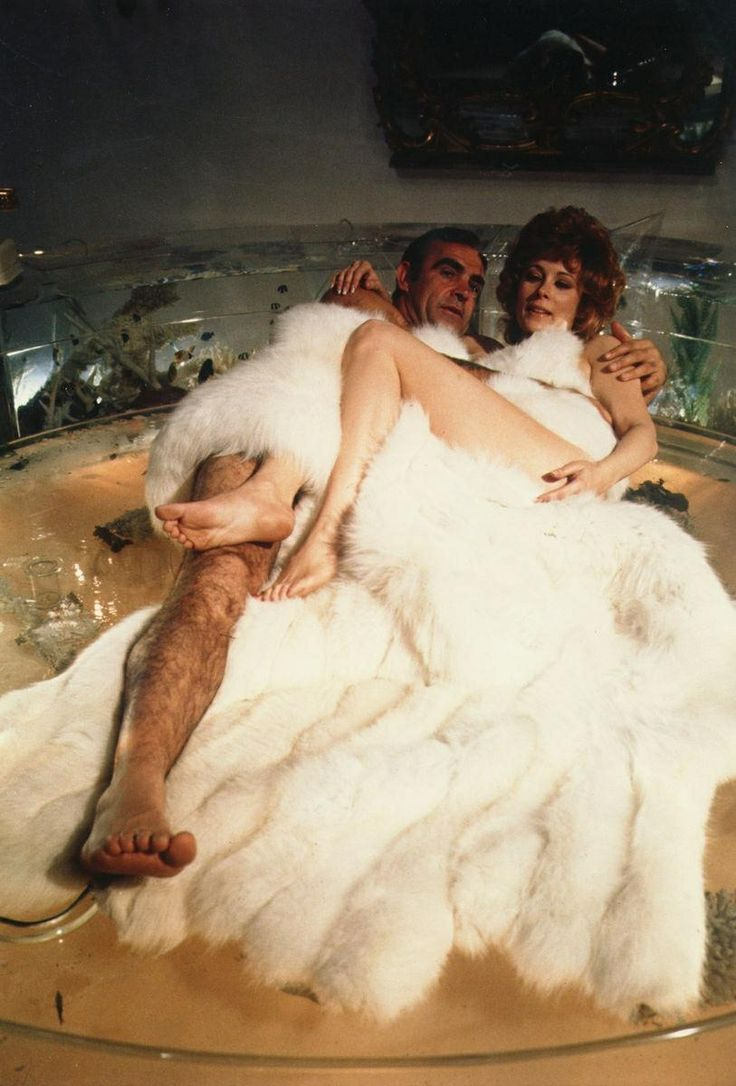 Jill St. John and Sean Connery.