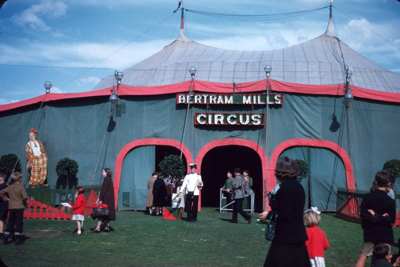 Main Entrance, Lancaster, 1952 Bertram Mills Circus