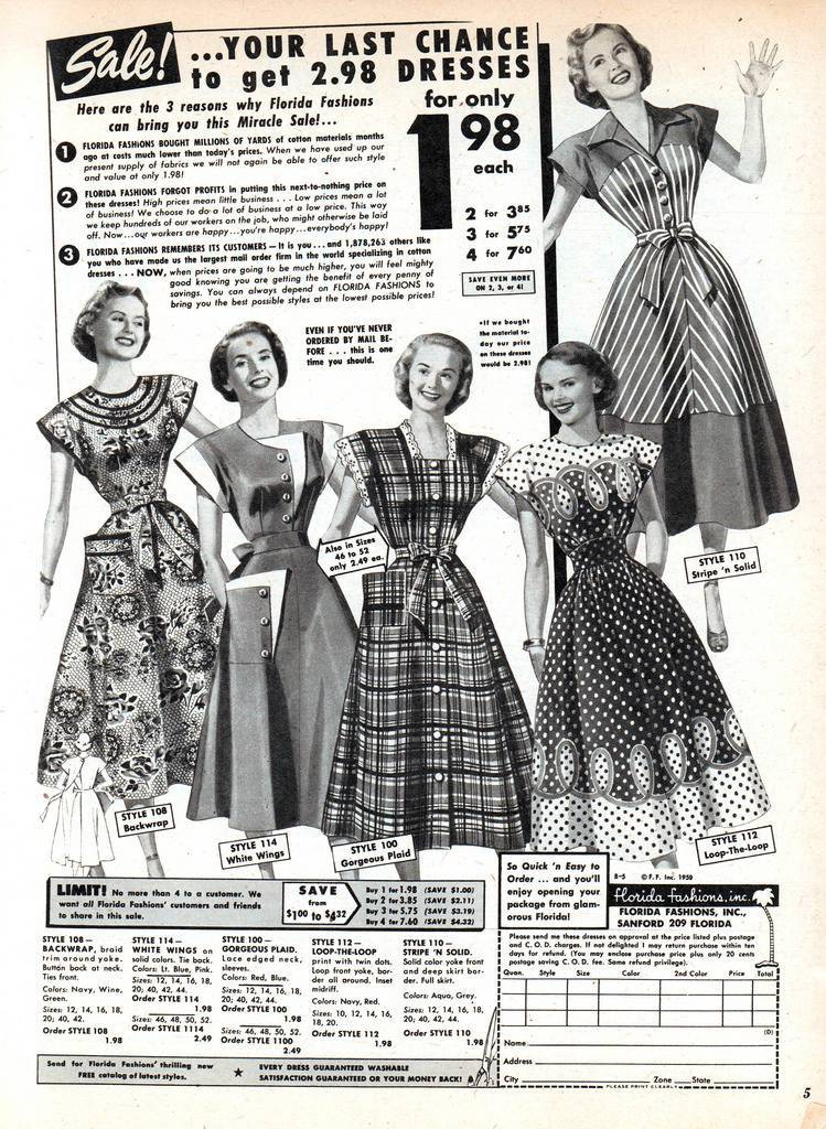 1950 adverts dresses cheap sexy