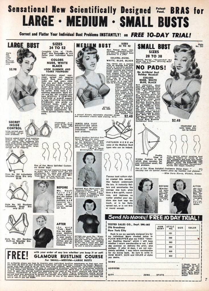 new bustline busty 1950s advert bra