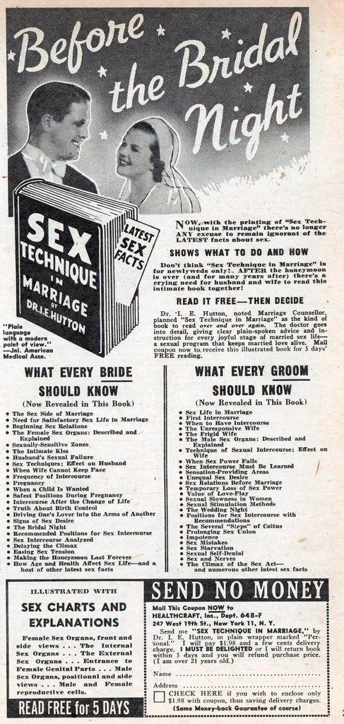 My Romance (Feb 1951) vintage sex adverts