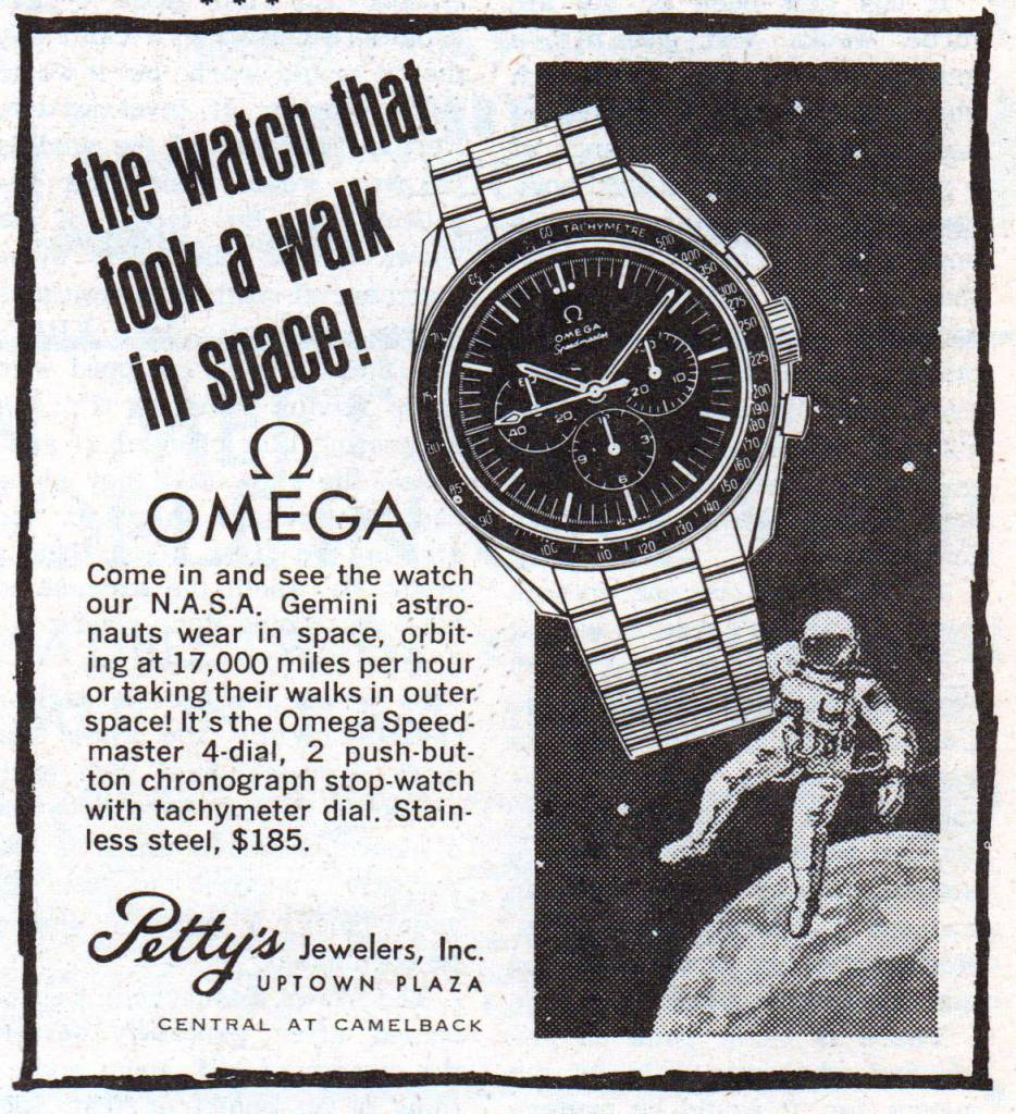 Omega advert vintage watch
