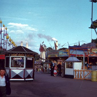 Colour Pictures of the Festival Pleasure Gardens in Battersea Park in 1953 by Vern Orton
