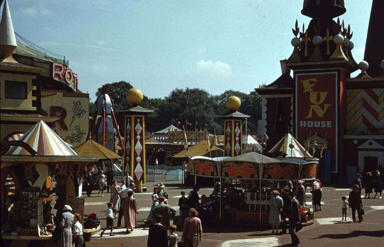 Part of the Funfair, 1953 The Festival of Britain, Vern Orton