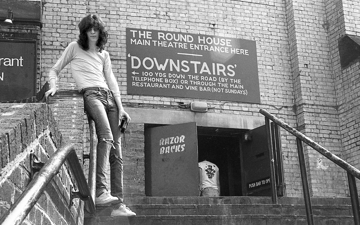 Joey Ramone at the Round House, London, 1976. © Danny Fields