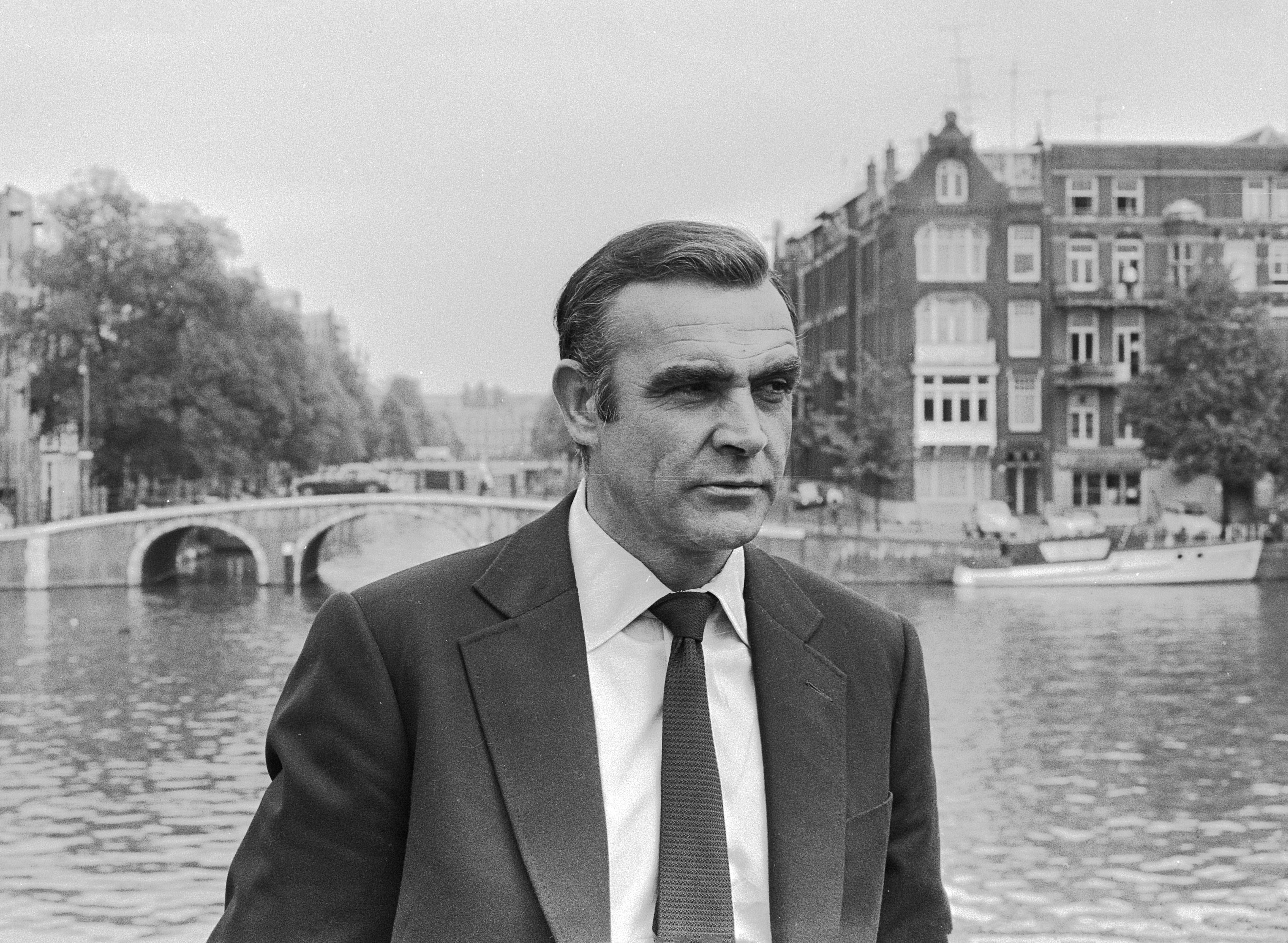 Sean Connery during the filming in Amsterdam.