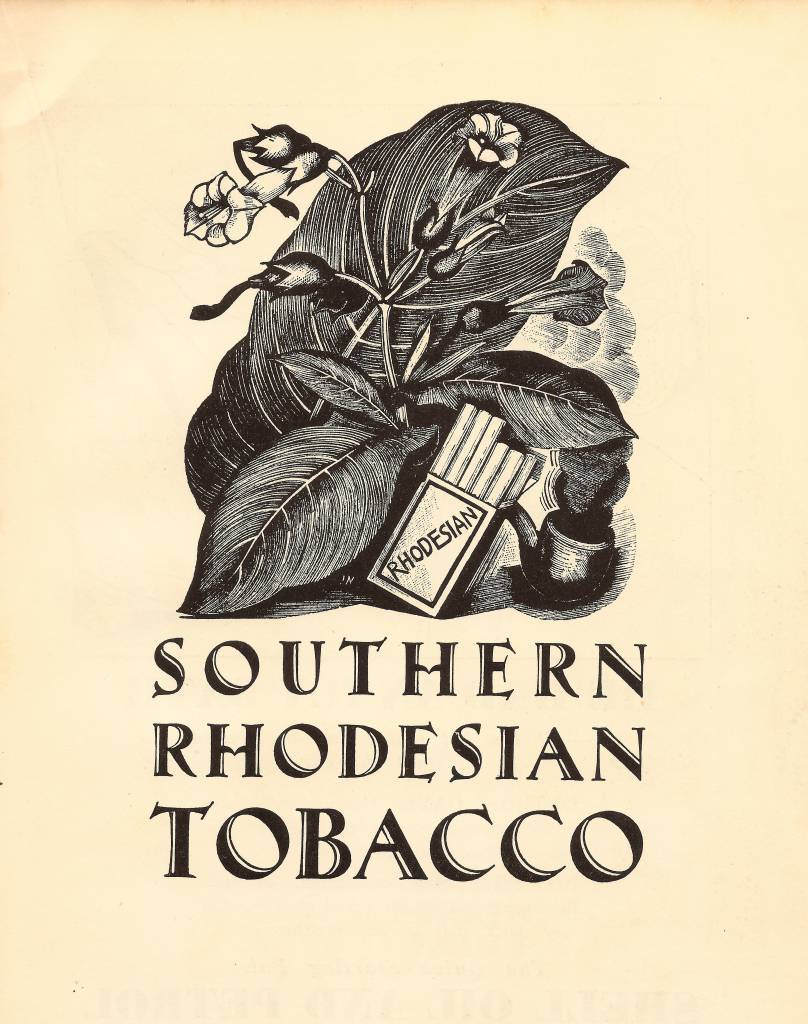 Southern Rhodesian Tobacco, advert for the Empire Marketing Board illustrated by John Nash, 1929