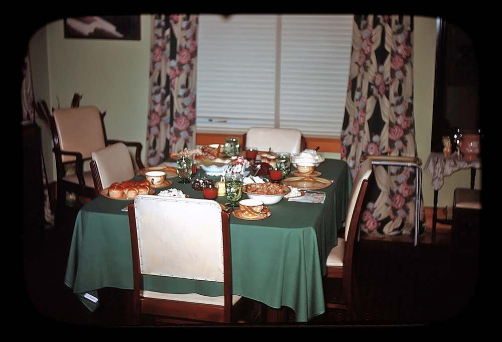 The Barr Family Dining Table Dec 19, 1951
