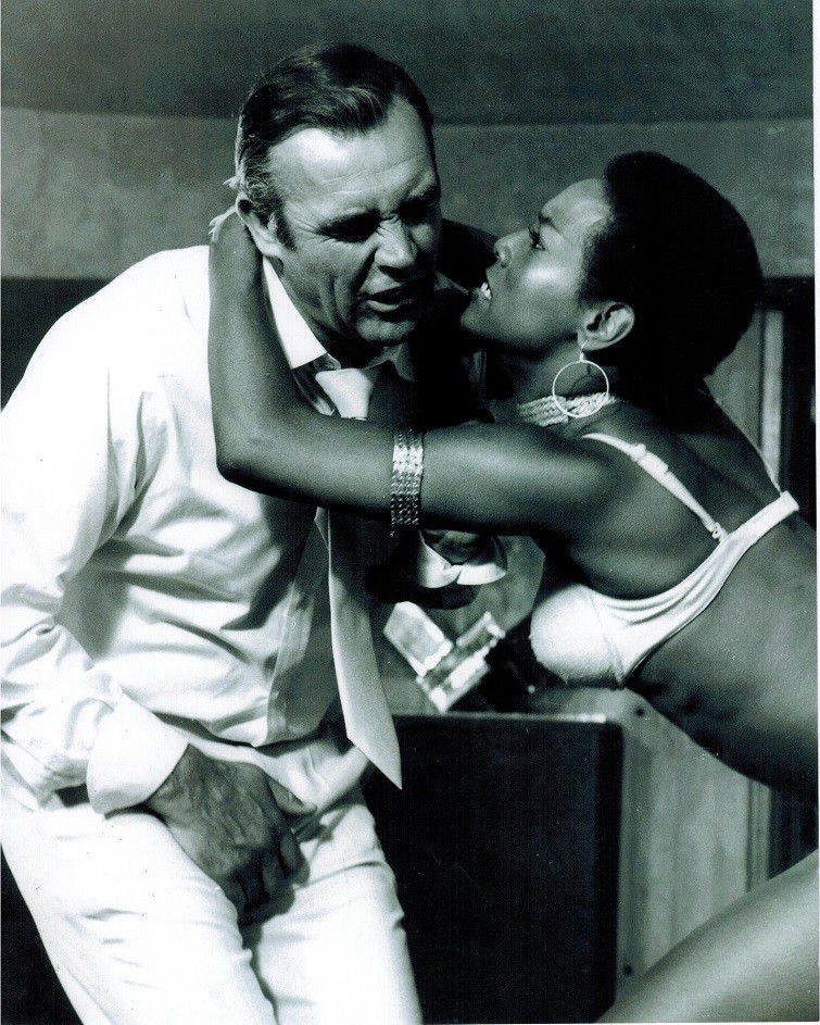 Trina Parks, the first African-American Bond girl, played 'Thumper'.